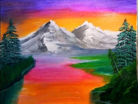 Beautiful Nature Scenery Painting Acrylic Painting For Beginners