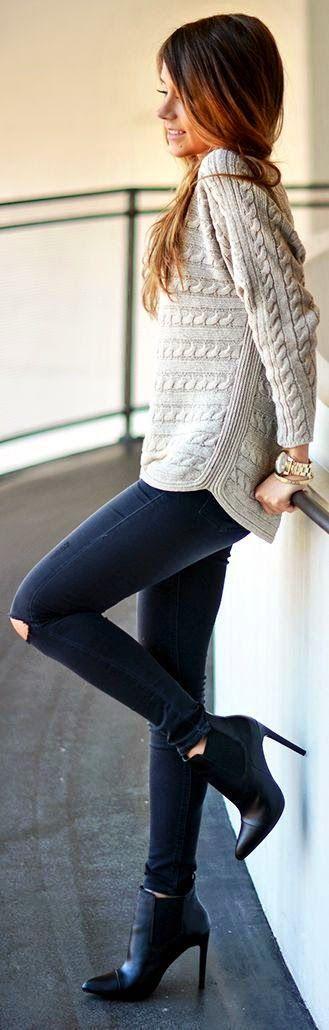 Looks inspiración con jerséis de punto | Cuidar de tu belleza es facilisimo.com
