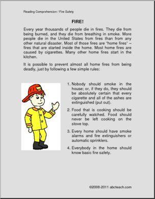 Fire safety worksheets ks2