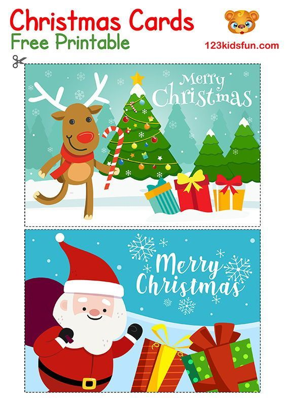 Free Christmas Printable 123 Kids Fun Apps Free Christmas Printables Christmas Cards Free Free Printable Christmas Cards