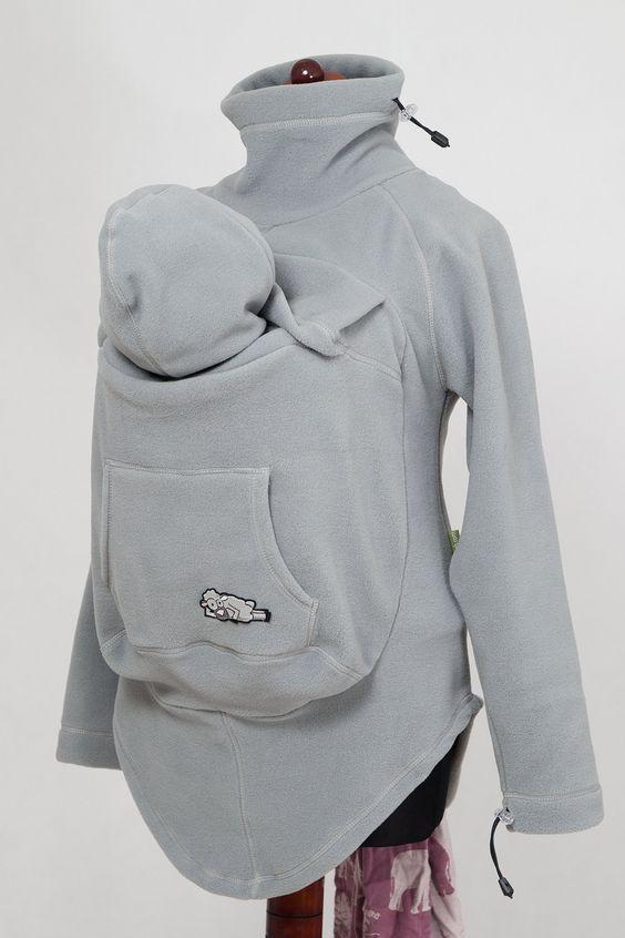 Lenny Lamb Babywearing Jacket Grey Fleece