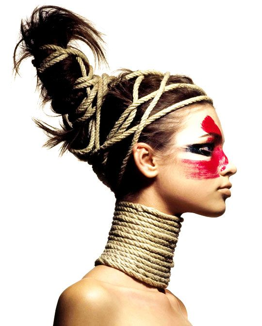 Striking makeup. I love profiles.  Marco Glaviano
