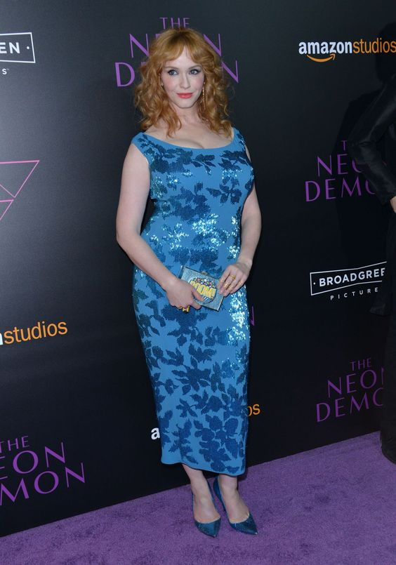 Christina Hendricks at the premiere of 'The neon demon' (Directed by Nicolas Winding Renf. Costarring with Elle Fanning and Keanu Reeves) in Hollywood, june 2016.