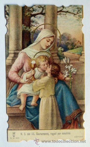 Vieja Estampa religiosa N.S.del SS Sacramento (Postales - Religiosas y Recordatorios)