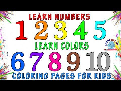 Learn Number For Kids Coloring Pages For Kids Numbers Coloring Pages How To Draw Numbers Youtube Numbers For Kids Coloring Pages Coloring For Kids