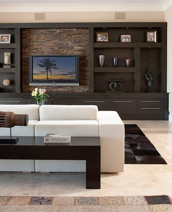 Pin By Home Lover On Salas De Tv Home Trendy Living Rooms Living Room Tv Wall