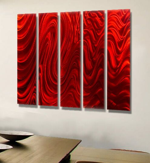 Red Wall Art Large Metal Painting Abstract Modern Red Wall Art By Jon Allen 718117177286 Ebay In 2020 Modern Metal Wall Art Abstract Metal Wall Art Large Metal Wall Art