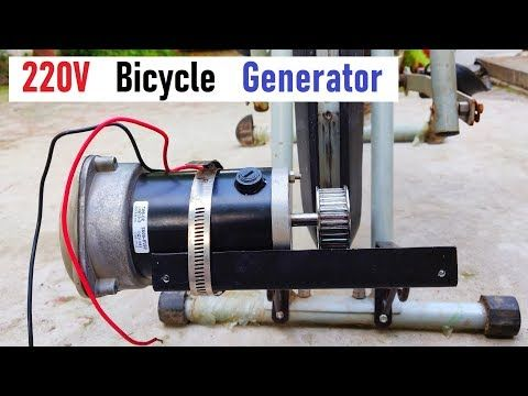 Amazing Idea 220v Electric Bicycle Generator From 500w Dc Motor Part 1 Youtube Electric Kart Car Alternator Electric Bicycle