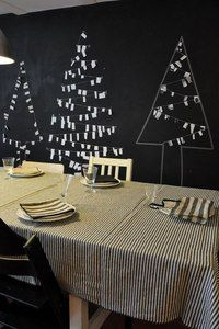 Xmas trees on blackboard http://www.pinterest.com/studiopostma/