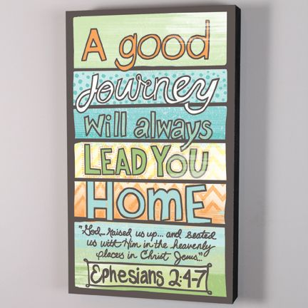 A Good Journey Will Always Lead You Home Large Box Print Wall Art Made In The USA