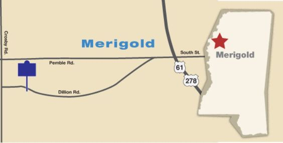 Map to Po Monkey's Lounge, Merigold MS