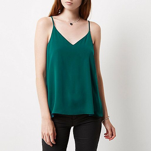 Green strappy cami