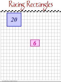 Multiplicar con una carrera de rectángulos es un juego de mesa fácil de preparar y que ayuda a repasar las tablas de multiplicar.