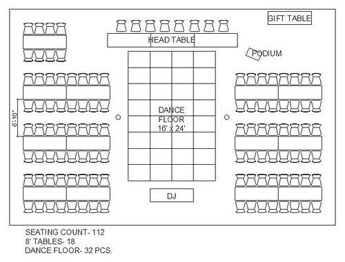 Seating Chart with rectangular tables