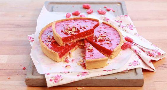 La recette de la tarte aux pralines roses en vidéoVoir la recette de la tarte aux pralines roses en vidéo >>