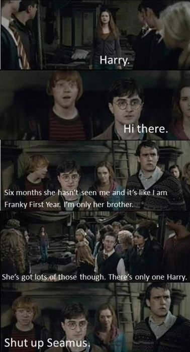 oh, harry and ginny... sorry 'bout that ron