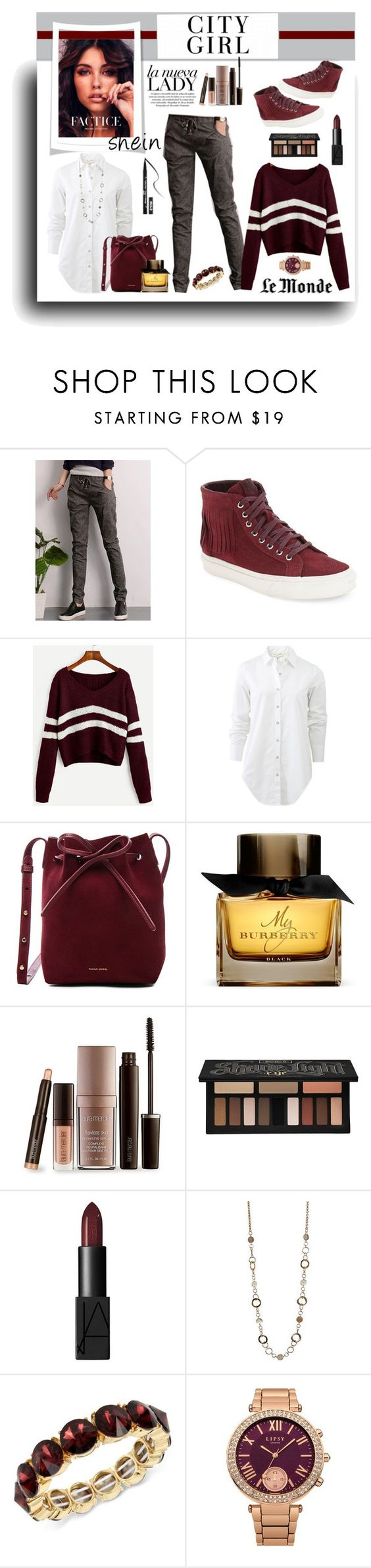"""""""Shein Sweater Contest"""" by lyric0ne ❤ liked on Polyvore featuring Vans, rag & bone, Mansur Gavriel, Burberry, Laura Mercier, Kat Von D, NARS Cosmetics, Kenneth Cole and Lipsy"""