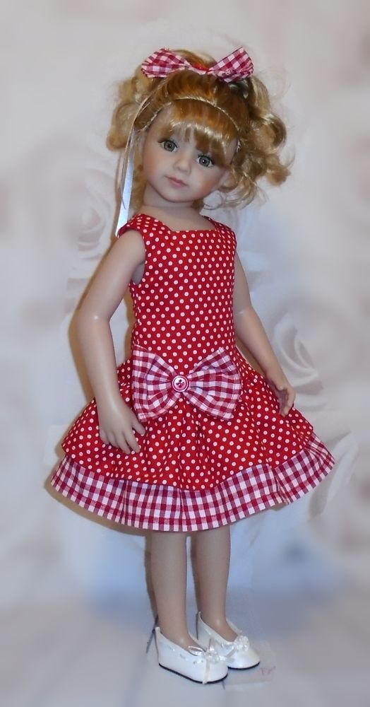 "dress & hair bow  for Dianna Effner Maru & friends 20"" doll By Vintagebaby"