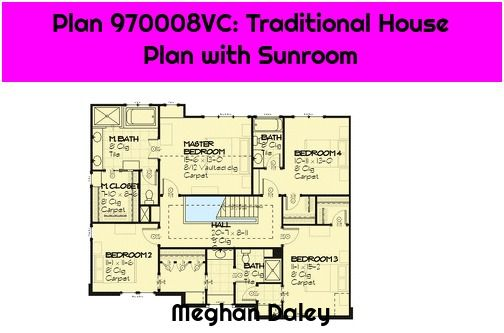 1 Plan 970008vc Traditional House Plan With Sunroom Plan 970008vc Traditional House Plan With Sunroom T In 2020 Traditional House Plan Traditional House House Plans