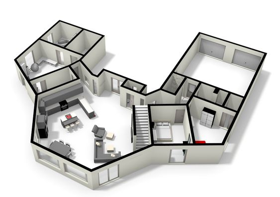 Hexagon house cool floorplans pinterest house and for Small hexagon house plans