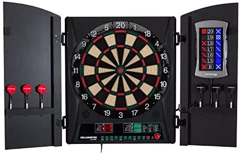 Amazon Com Bullshooter Cricket Maxx 1 0 Electronic Dartboard Cabinet Set With 13 5 Target Area Wooden Cabinet D In 2020 Electronic Dart Board Dart Board Dartboards