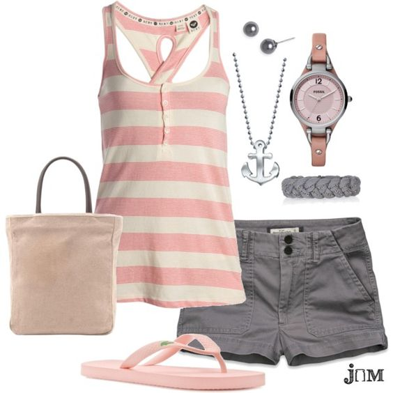 Pink and gray. Comfy...LOVE!!!