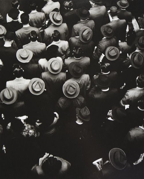 Staten Island Ferry Commuters, 1944 • By Gordon Parks  Might create something with this image in mind.....