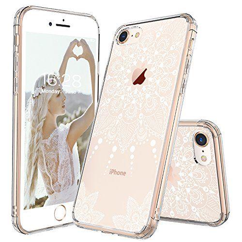 iPhone 8 Case, iPhone 8 Clear Case, MOSNOVO White Henna Mandala ...