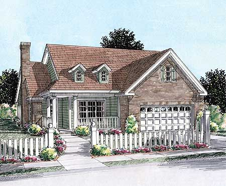 Plan 40179wm Two Bedroom Cottage Retirement Cottages