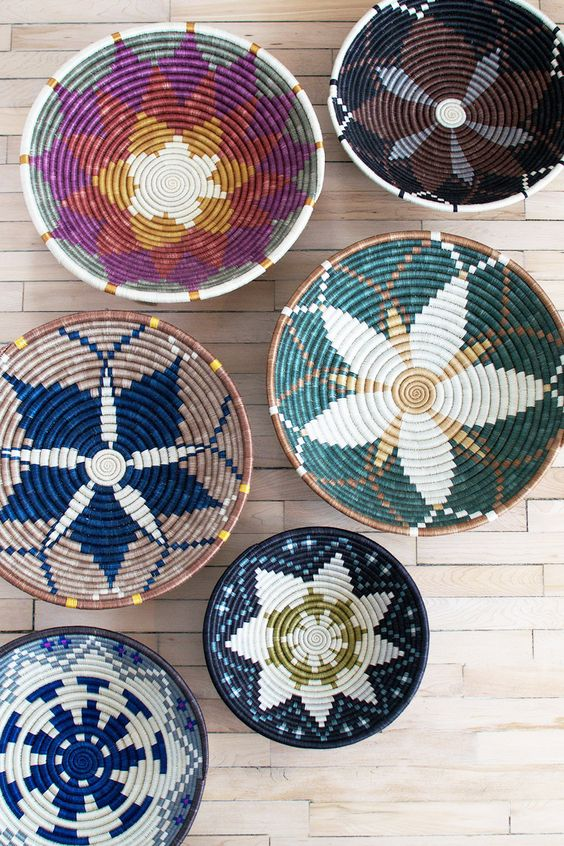 African baskets in every color of the rainbow!