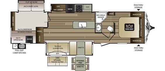 Keystone RV 34TSB - NEW floorplan