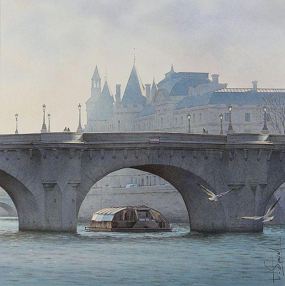 Le bateau Mouche et le Pont Neuf
