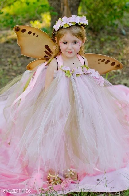 Vintage Pink &amp Old Willow&quot Tutu Dress-tea party dress little girl ...
