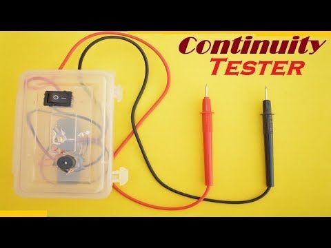 How To Make A Continuity Tester At Home Using 3 7 V Battery Simple Led And Motors Tester With Sound Youtube Tester Led Continuity