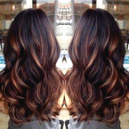 Schwarze haare mit braunen strähnen