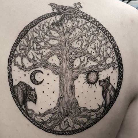 Yggdrasil Tattoo Meaning Google Search Norse Tattoo Yggdrasil Tattoo Mythology Tattoos