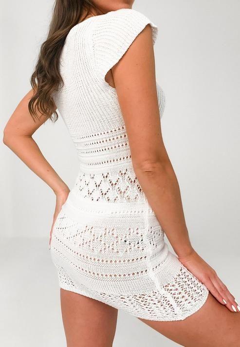 Office Organization Ideas Tips And Tricks Lil Luna In 2020 Knit Dress Crochet Mini Dress White Crochet