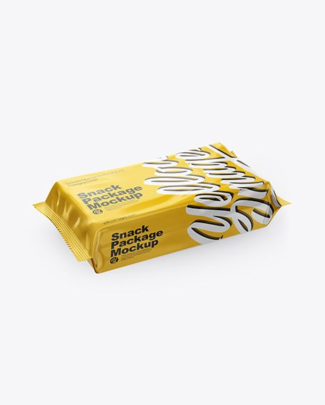 Download Glossy Snack Pack Mockup Half Side View High Angle Shot In Flow Pack Mockups On Yellow Images Object Mockups Mockup Free Psd Free Psd Mockups Templates Stationery Mockup