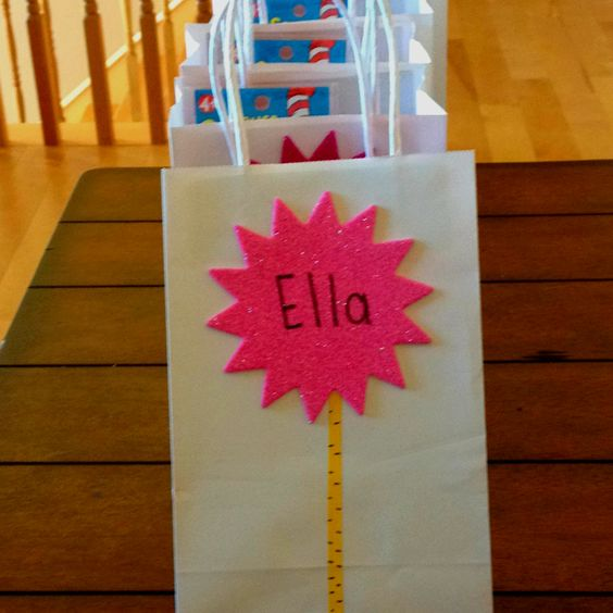 The Lorax birthday party loot bags