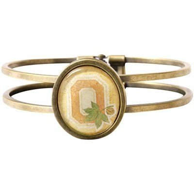 Ohio State Buckeyes Vintage Antique Brass Bracelet