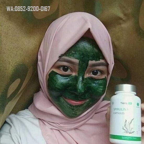 Manfaat Masker Spirulina Menghilangkan Jerawat Toko Herbal Tiens