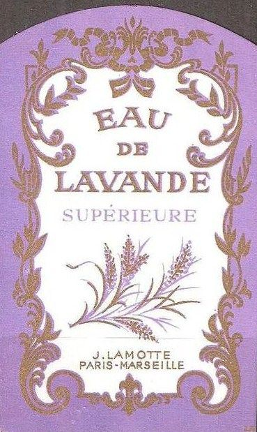 ♡lavanda - vintage perfume label