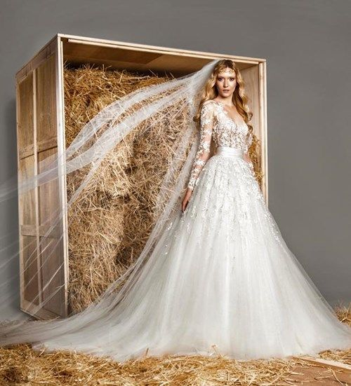 Zuhair Murad Illusion Ball Gown in Tulle and Beaded Embroidery | KleinfeldBridal.com