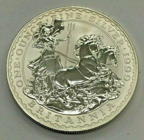1999 Great Britain Britannia 2 Pounds 1 Oz Fine Silver Coin Mint Uncirculated Bullion Silver Coins Fine Silver