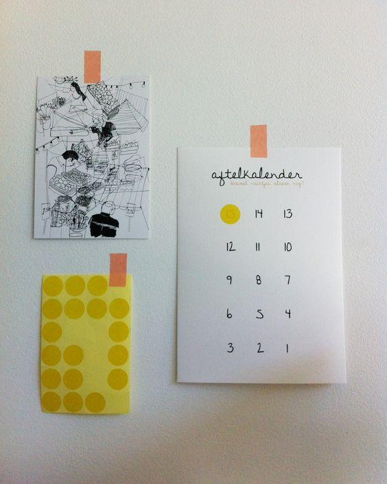 Countdown calendar by Nu interieur|ontwerp