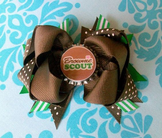 """Hair bows-replace the girl scout thing with """"jewels"""". Abi likes this!!"""