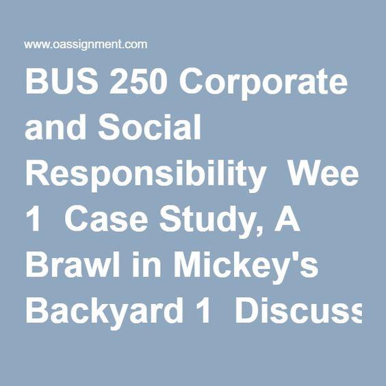 BUS 250 WEEK 5 Final Case Analysis Mattel (03 Papers) Discussion 1 - case analysis