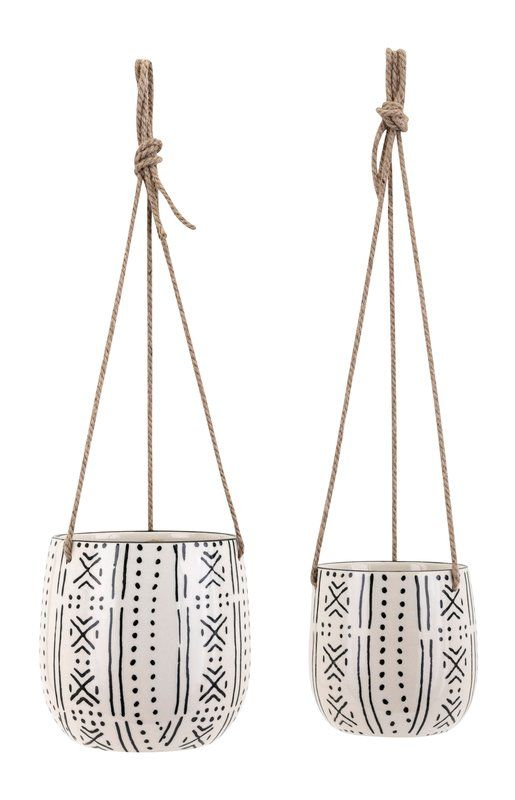 Farrington Gurney 2 Piece Hanging Planter Set Hanging Planters Hanging Planters Indoor Diy Hanging Planter
