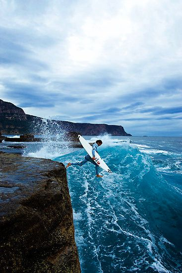 Surfing takes courage
