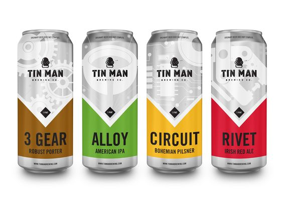 Tin Man Brewing Company. The starting lineup. BEER